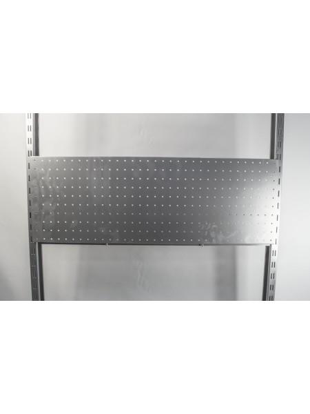Перфорированная панель 35х100 см металлик