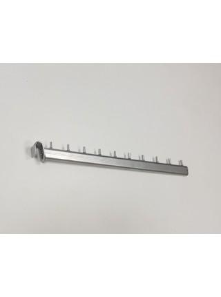 Кронштейн (флейта) наклонный 45см для фронтальной развески с креплением на перекладину металлик