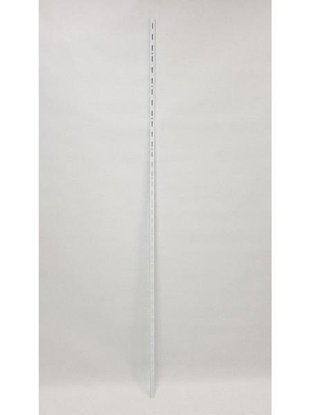 Рейка-направляющая настенная 200см с одинарной перфорацией белая