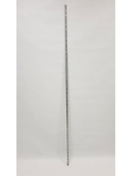 Рейка-направляющая настенная 200см с одинарной перфорацией металлик