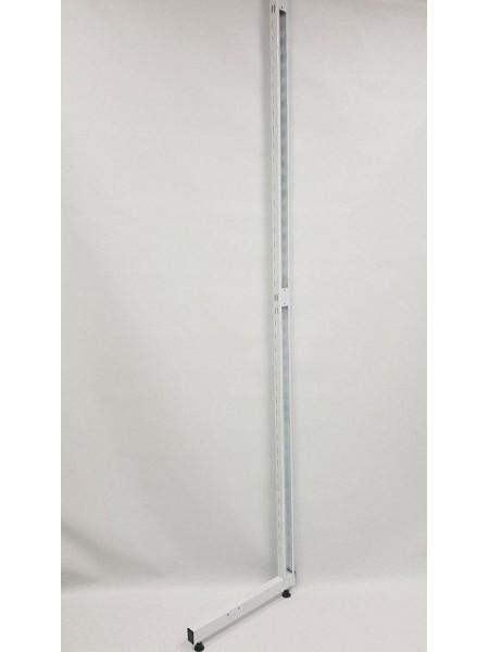 Рейка-опора пристенная 220см с двойной перфорацией открытая белая