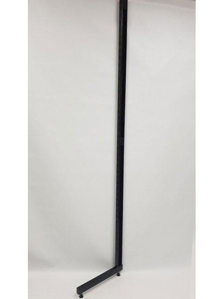 Рейка-опора пристенная 220см с двойной перфорацией открытая черная