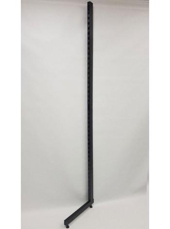 Рейка-опора пристенная 220см с двойной перфорацией закрытая черная
