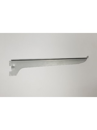 Полкодержатель уголок навесной 30см металлик