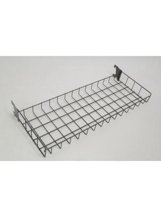 Стеллаж модульный двухсторонний с сеткой,крючками, корзинами и полками белый , 180х60 см.