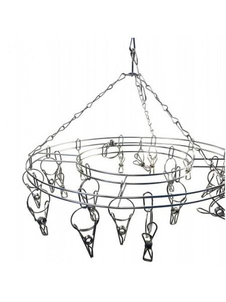 Вешалка-вертушка металлическая круглая 16 прищепок