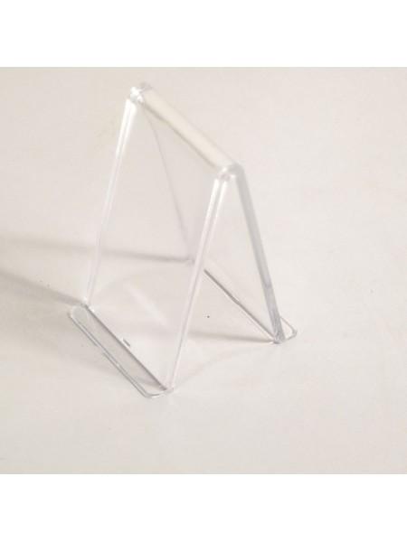 Подставка  уголок прозрачная пластиковая 8 см gpps1