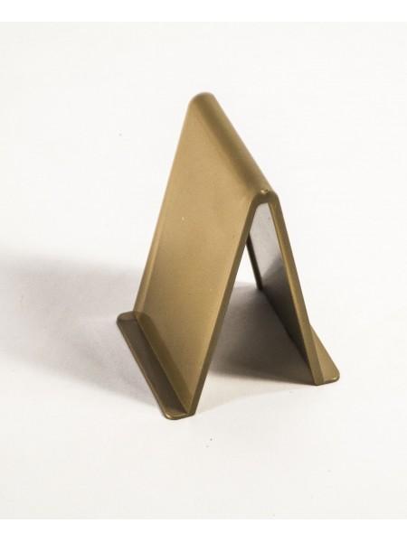 Подставка - уголок для обуви пластмассовый золотистый 8 см.