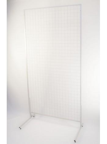 Торговая сетка 1500х800 с покраской в белый цвет (рамка17мм) без ножек