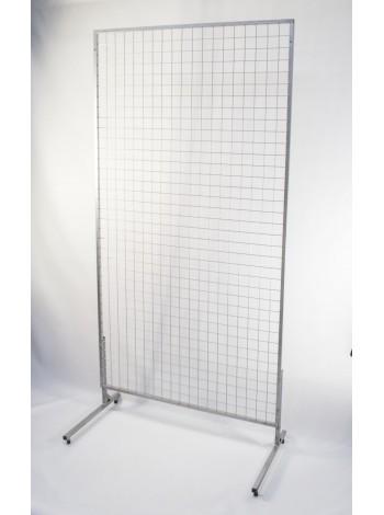 Торговая сетка 1500х800 с покраской серый металлик (рамка15мм) без ножек