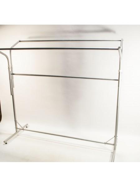 Стойка-книжка 150 см из профилей круглого сечения металлик (М) (Украина)