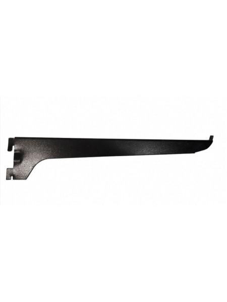 Полкодержатель уголок навесной 30см черный