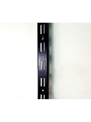 Рейка-направляющая настенная 200см с двойной перфорацией черная