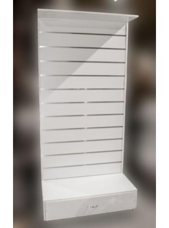 Стеллаж 220х100 с эконом-панелью и ящиком