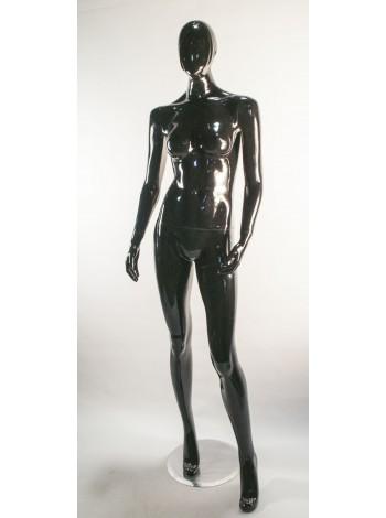 Манекен женский черный глянцевый B1-50 С3-1