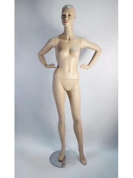 Манекен женский гипсовый телесный реалистичный  JH101 c1-1