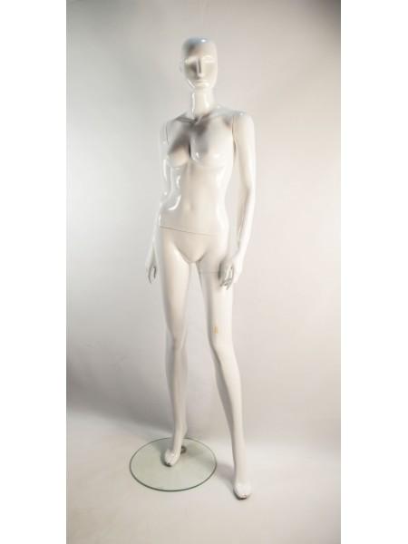 Манекен женский белый глянцевый PU-19 С1-1