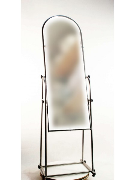 Зеркало напольное в металлической раме М 38см черное