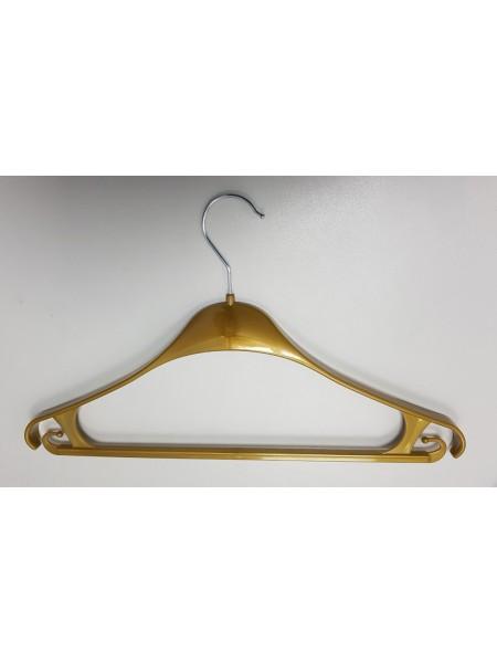 Плечики пластмассовые для верхней одежды Турок GPPS2 бронза 39 см.
