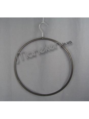 Круг пластмассовый с металлическим крючком бельевой 43см черный