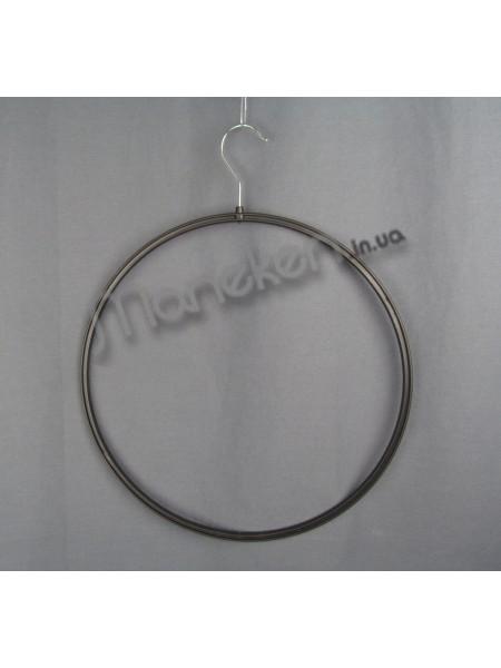 Круг пластмассовый с металлическим крючком бельевой 37см черный