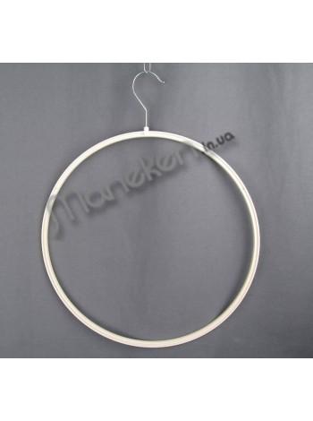 Круг пластиковый с металлическим крючком бельевой 37см белый