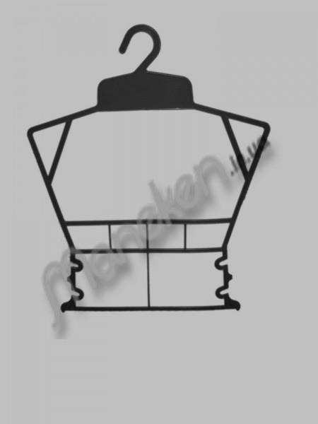 Вешалка рамка домик черная (эконом)