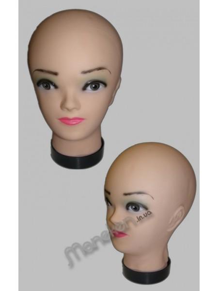 Манекен голова силиконовая Европейка