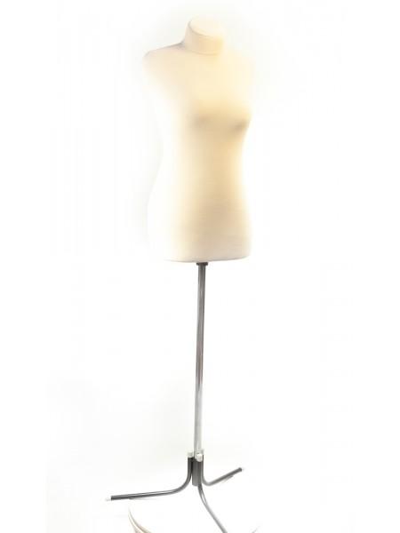 Манекен для шитья полумягкий с ватином Любовь 46 размер кремовый
