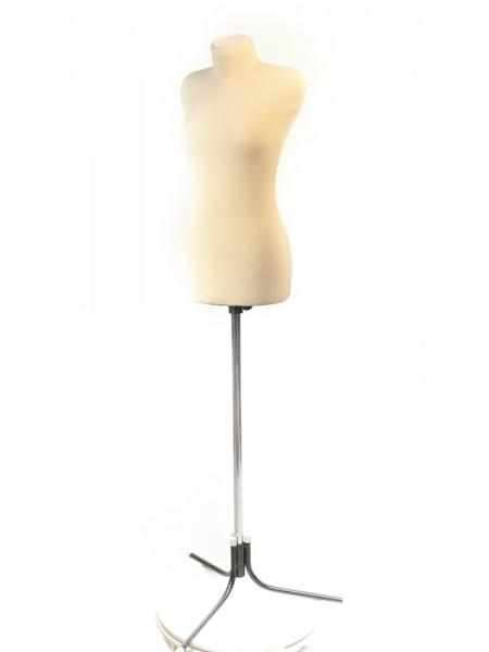 Манекен портновский бежевый кремовый мягкий модель Любовь 40 размер