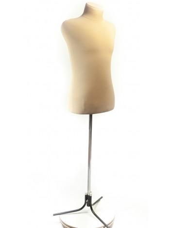 Манекен мужской для шитья с ватином и тканью  Пьер 50 кремовый