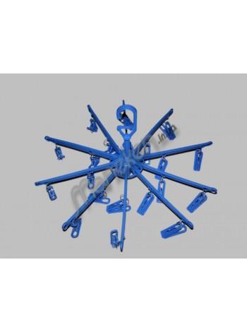 Вешалка-вертушка пластмассовая зонтик 20 прищепок