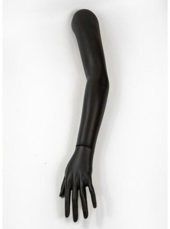 Манекен рука женская до плеча черная правая