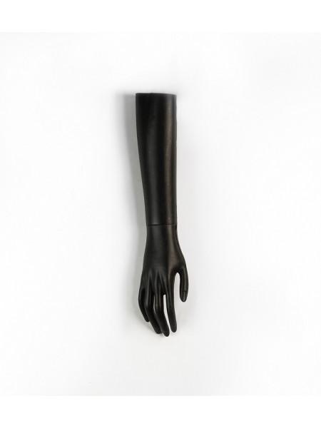Манекен рука женская до локтя черная левая