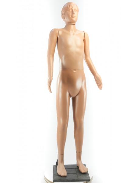 Манекен в полный рост телесный девочка - подросток на подставке