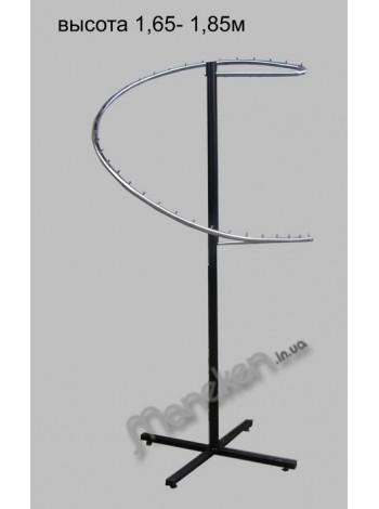 Стойка со спиралью металлик (Змеевик хром)