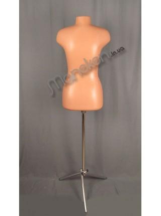 Манекен выставочный без ткани пластиковый Марина 44 на треноге