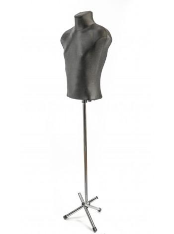 Манекен мужской выставочный  Стас в ткани на треноге