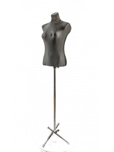 Манекен женский пластмассовый для витрины Маша  в тканевом чехле