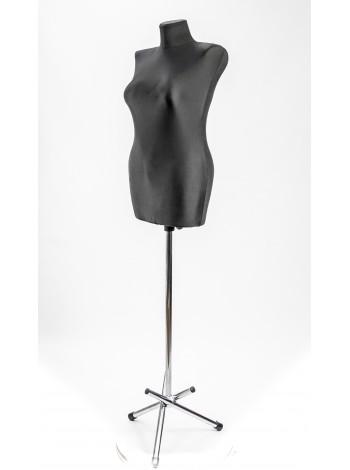 Манекен выставочный пластиковый жесткий Катя 46 в ткани