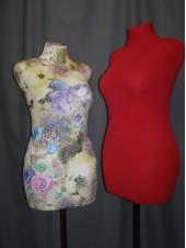 Манекен портной дизайнерский мягкий в ткани с узором Любовь