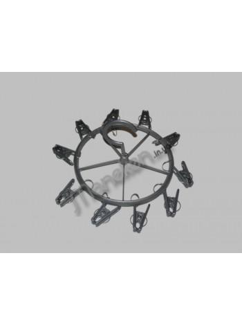 Вешалка-вертушка пластмассовая зонтик на 10 прищепок
